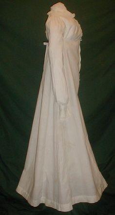 Regency Era Apron Front Dress