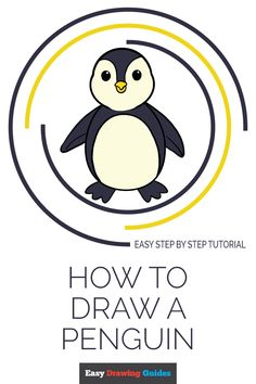Learn to draw a cute penguin. This step-by-step tutorial makes it easy. Kids and beginners alike can now draw a great looking penguin. Cartoon Drawings, Easy Drawings, Animal Drawings, Kawaii Drawings, Doodle Drawings, Penguin Coloring Pages, Coloring Pages For Kids, Penguin Drawing Easy, Drawing Tutorials For Kids
