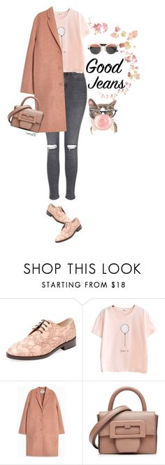 """""""Distressed denim"""" by tiana212 ❤ liked on Polyvore featuring Monique Lhuillier, Acne Studios, Maison Margiela and Christian Dior"""