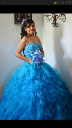 Turquoise quinceanera dress