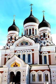 The splendid, onion-domed Alexander Nevsky Cathedral is just one of the eye-catching sights in Tallinn Old Town! Read our mini-guide to walking the Old Town of Tallinn, Estonia...