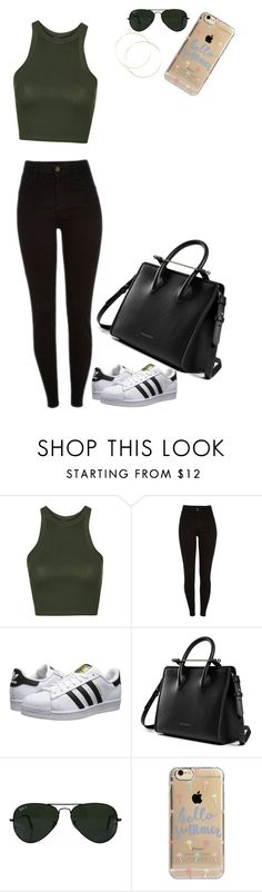 """Untitled #197"" by sairasfashion on Polyvore featuring Topshop, adidas Originals, Ray-Ban and Agent 18"