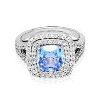 Diamonvita Couture Cushion Cut Swarovski Zirconia Ring in Sterling Silver