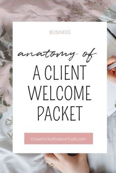 Anatomy of a Client Welcome Packet So what makes up a client welcome packet? are the questions you should… Small Business Marketing, Start Up Business, Business Planning, Business Tips, Internet Marketing, Online Business, Inbound Marketing, Media Marketing, Business Education