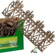 Flixible wrought iron look fence border lawn garden edging plastic fencing new - Modern Lawn Edging, Garden Edging, Lawn And Garden, Indoor Garden, Plastic Fencing, Landscape Borders, Furniture Makeover, Wrought Iron, Garden Ideas