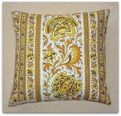Vintage 1970s Sanderson Kabul cushion cover with zip fastening 40cm. £12.95, via Etsy.