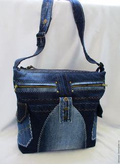 """Джинсовая сумка """"СКОРОСТЬ-2"""" – купить или заказать в интернет-магазине на Ярмарке Мастеров   Джинсовая сумка для мобильной девушки. Очень…"""