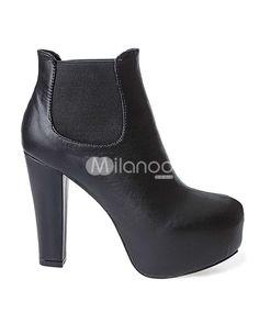 Platform boots in classic black. Wardrobe essential!
