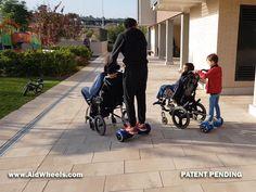 inventos movilidad electrica sillas de ruedas: Motor auxiliar acompañante asistente empuje silla ruedas manual