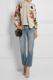 Etro Floral-print cotton-blend jacket