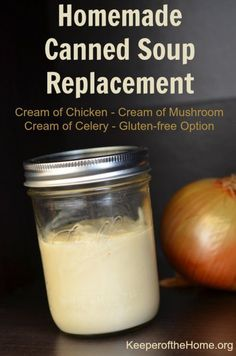Who needs canned soup when you have this simple recipe for cream of chicken condensed soup? It can be adapted to work homemade canned soup replacement for cream of celery or cream of mushroom soup as well. Now you don't have to worry about trying to adapt your old recipes – just keep this on hand as a replacement!