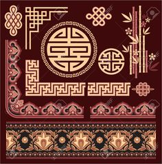 14661660-Set-of-Oriental-Pattern-Elements-Stock-Vector-chinese-pattern-border.jpg (JPEG Image, 1280 × 1300 pixels) - Scaled (86%)