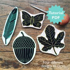Rubber Carving Tutorial with four different von ViktoriaAstrom