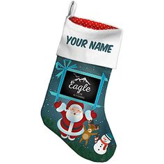 Christmas Stocking Mountains chalkboard Eagle Peak  Wyoming Xmas night NEONBLOND >>> More info could be found at the image url. #XmasStockingsHolders