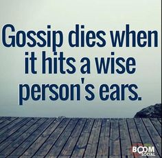 Hate gossip! This is great!                                                                                                                                                      More