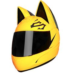 Selty Sturluson's helmet  Here's a deal: choose your two favorite colors and point them in the second step of ordering. These colors will be used in painting your new cat helmet! Don't worry about the ears – you won't even notice them at a speed below 90mph.