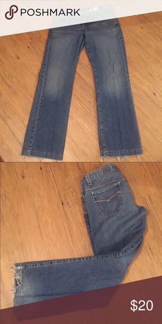 Cruel Girl Wide Leg Jeans Utility fit Jeans-- super wide legged but still so comfy! Second picture shows the wear on the bottom! Cruel Girl Jeans Flare & Wide Leg