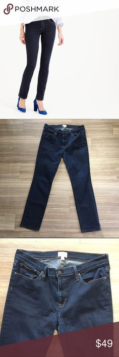 """J. Crew Dark Blue Matchstick Skinny Jeans Dark blue washed denim from J. Crew.  Inseam 29"""".  Leg opening 7"""".  Very minimal fade near zipper (see image)  Overall great condition!  E0079 J. Crew Jeans Skinny"""