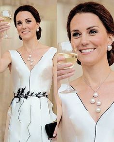 The Duchess of Cambridge attends the reception hosted by the UK Embassy in Poland celebrating HM's official birthday on July 17,2017. . #katemiddleton #duchessofcambridge #royalvisitpoland