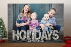 Bold Sparkle Holiday Photo Cards by jen soll at minted.com