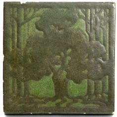 Marblehead Pottery Tile, Arts & Crafts Pottery Tile, Signed NR