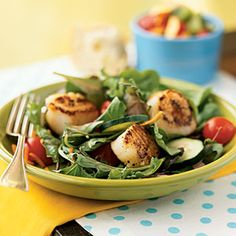 Seared Scallop Salad - Quick-and-Easy Seafood Recipes - Cooking Light
