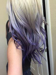 Blonde with purple ombré // purple hair
