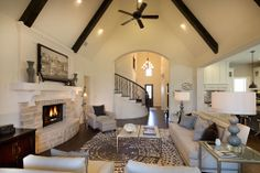 living room Call Laurie Albrecht, Cavalier Real Estate For Buyer Representation All White Room, White Rooms, Highland Homes, New Home Builders, My Living Room, Living Spaces, My Dream Home, Dream Land, Dream Bathrooms