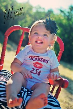 Kisses 25 Cents Funny Baby Onesie or Toddler by ShopTheIttyBitty, $16.00