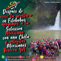 Después de vivir la #aventura en #filobobos apoyemos a la #SeleccionMexicana con una #chela y antojitos mexicanos. Reserva ya 😎🍺⚽🇲🇽️ ☎️OFICINA 01[229] 1508316 📲 WHATSAPP 2291476029 📬 EMAIL turismoenveracruz@gmail.com  🌎http://www.filobobos.com/  #rafting #hospedaje #vacaciones #turismo #Veracruz #mundial #Rusia
