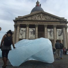 The #IceWatchParis art installation opened yesterday on the Place du Panthéon and features ice blocks from Greenland that will melt away during COP21. Photo: @altparadigm