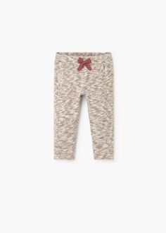 Knitted fabric Speckled jacquard Elastic waist with drawstring Kid United, Mango Outlet, Knitted Fabric, Trousers, Symbols, Letters, France, Clothes, Elastic Waist