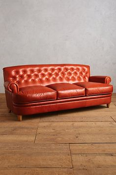 Leather Kimmeridge Sofa- the dark teal or yellow =100!!! #anthropologie