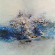 14-02-13.jpg (Painting),  90x90 cm par Raymond Attanasio Emotions ressenties le 13 février 2014 et retranscrites sur la toile