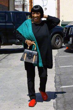 Patti arrives at rehearsal studios 1/4/15 - credit: AKM-GSI