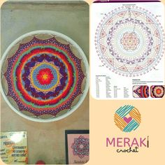 Mandala tejidas y una bici Meraki, Beach Mat, Outdoor Blanket, Tejidos