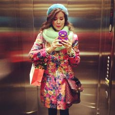 MACADEMIAN GIRL - I love this colourful outfit. Eclectic but easy to wear. Mohair infinity scarf by Nudakillers