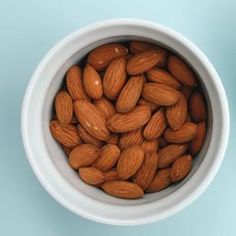 almonds - chew more to curb hunger and feel fuller longer.... 2 oz. serving chew 40 times. #health #weightloss #almonds