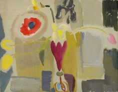 stilllifequickheart:  Ivon Hitchens Daffodils, Poppies & Tulips - Ruby Vase 1933