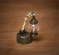 Creepy Miniature Lantern for your Dollhouse by DinkyWorld on Etsy