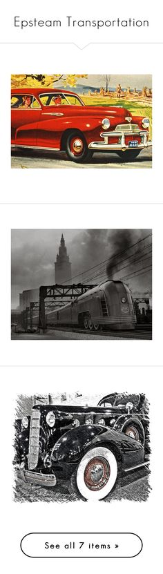 """Epsteam Transportation"" by blissfulbeatric ❤ liked on Polyvore featuring home, home decor, wall art, unframed wall art, black and white wall art, black and white home decor, paper wall art, black white home decor, mobile home decor and black glass ashtray"
