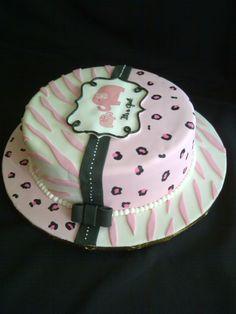 Baby Shower Safary Cake   Itu0027s A Girl!
