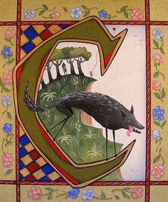 Illuminated Letter C by Chum McLeod.