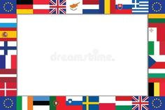 Frame of the flags of EU countries. Frame is composed of the flags of the EU cou , 9 Mai, Eu Countries, Motion Graphics, Infographic, Royalty Free Stock Photos, Diagram, Symbols, Letters, Country