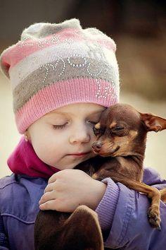 So cute  #dog little cute child sweet                                                                                                                                                                                 More