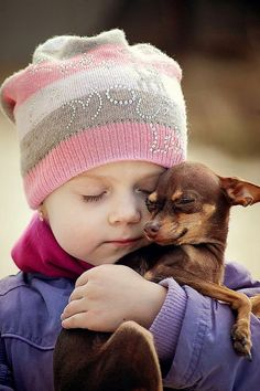 So cute    #dog little cute child sweet