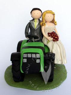 Brautpaar am Traktor von www.tortenfiguren.at