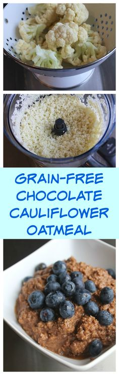 Chocolate Cauli Oatmeal recipe for a delicious grain-free breakfast that is paleo-friendly