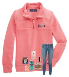 """""""Finally Break!"""" by jenna-faith11 ❤ liked on Polyvore featuring Vineyard Vines, Frame, UGG, Chanel and Elegant Touch"""
