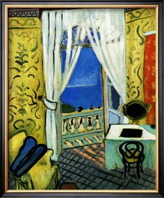 This is a Matisse painting. Matisse was an artist discussed in one of the videos. The colors used in this picture are highly saturated, they are very bright. There are also some complimentary colors in this painting with the red and green. I thought that this was a very beautiful picture.